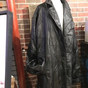 Italian leather coat